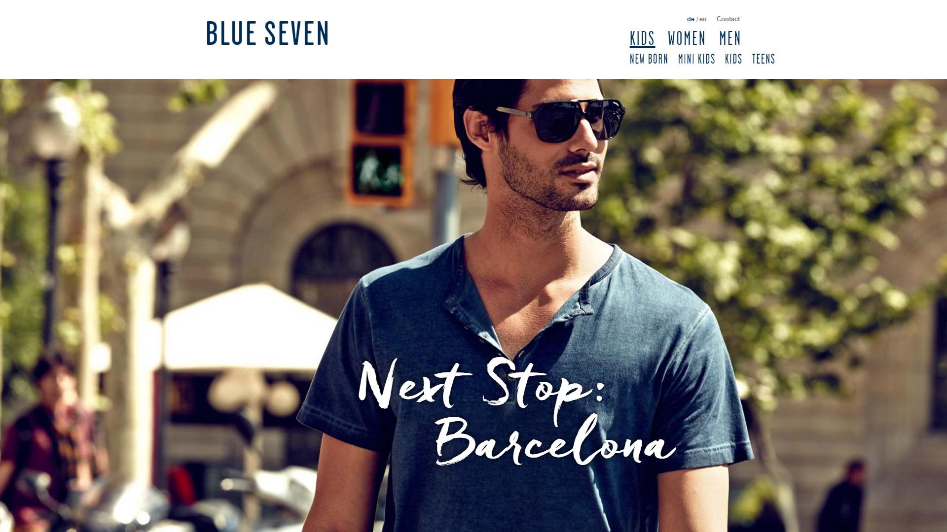 Internetauftritt für Modelabel Blue Seven