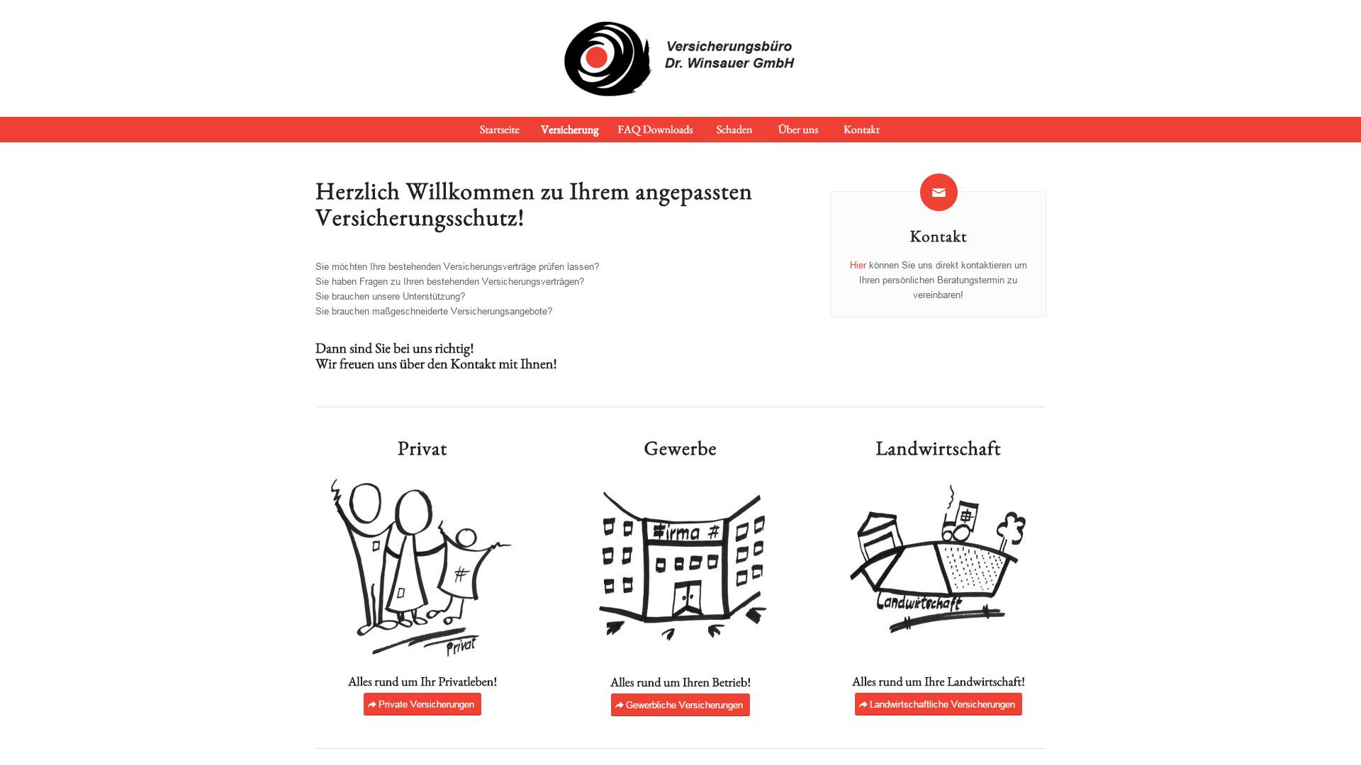Website für das Versicherungsbüro Dr. Winsauer